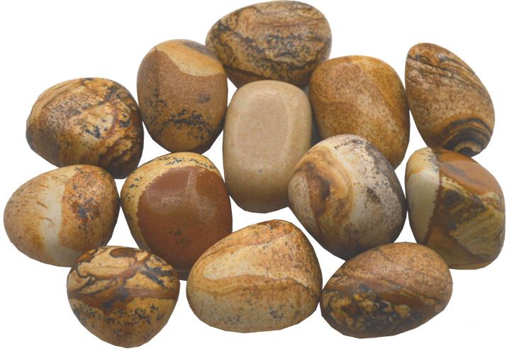 Jaspe paysage pierres roulées 250g