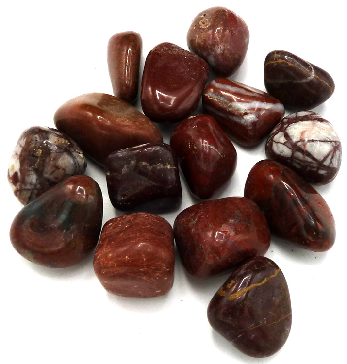 Jaspe rouge 'B' pierres roulées 250g