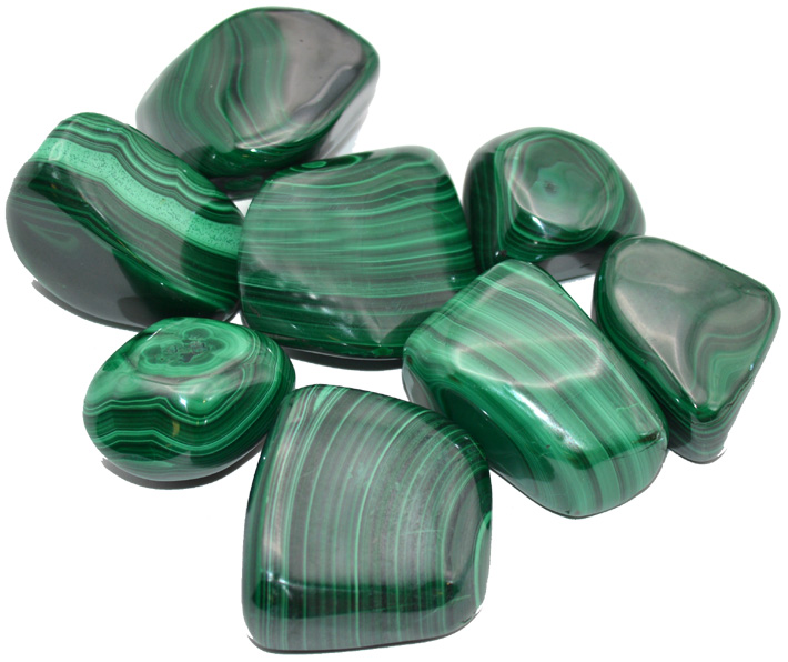 Malachite rolled stones 250g