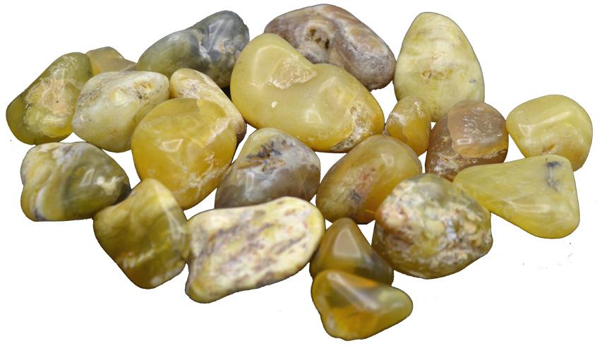 Opale jaune pierres roulées 250g