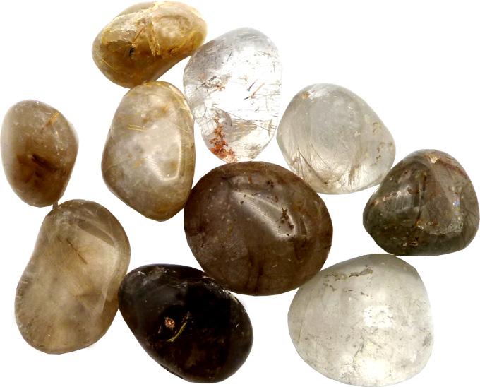 Quartz rutile extra pierres roulées 250g
