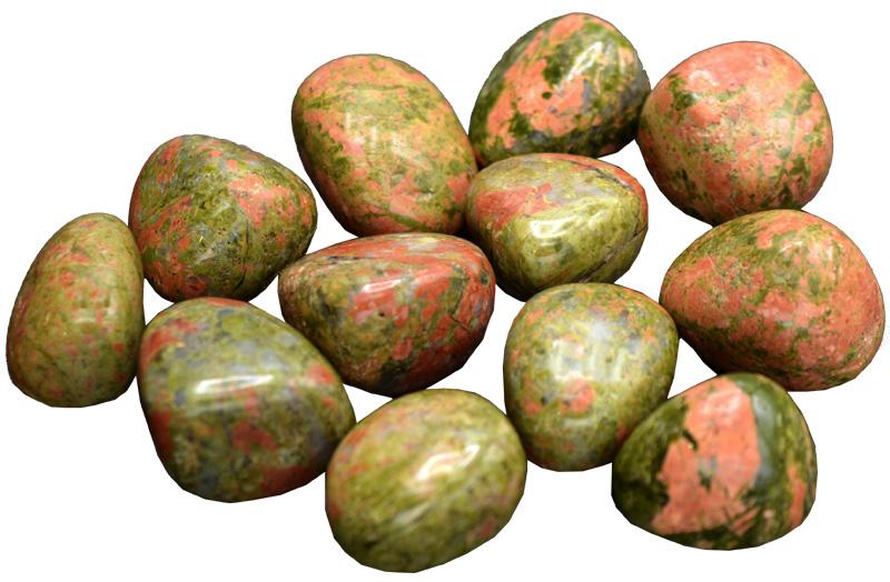 Unakite pierres roulées 250g