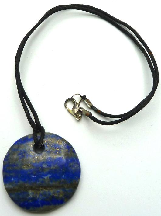 Pendentif disque Lapis Lazuli