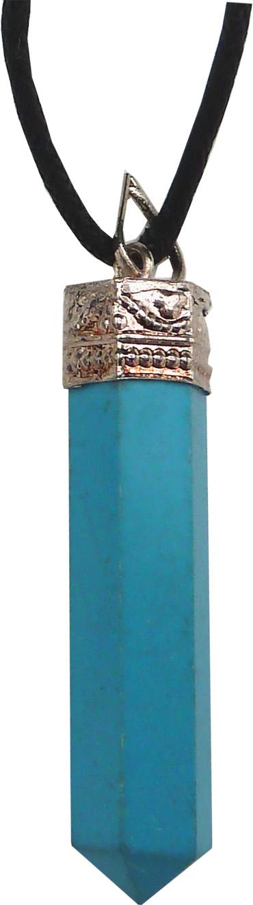 Collier conique turquoise 4cm