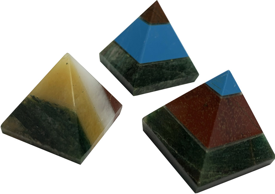 Pyramide Agate multicolore 2.5cm