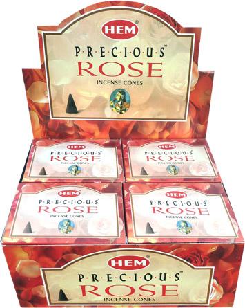 Encens hem precious rose cones