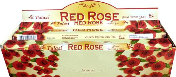 Incense tulasi sarathi red rose hex 20g