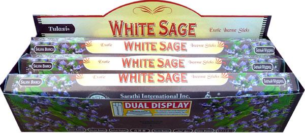 Encens tulasi sarathi sauge blanche hexa 20g