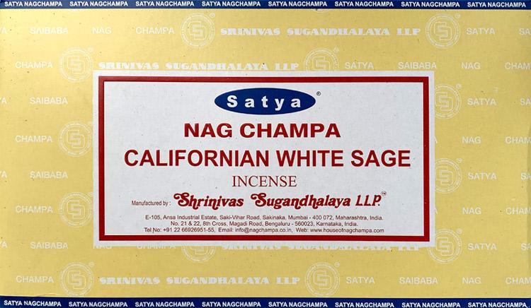 Incenso Satya bianco salvia 15g