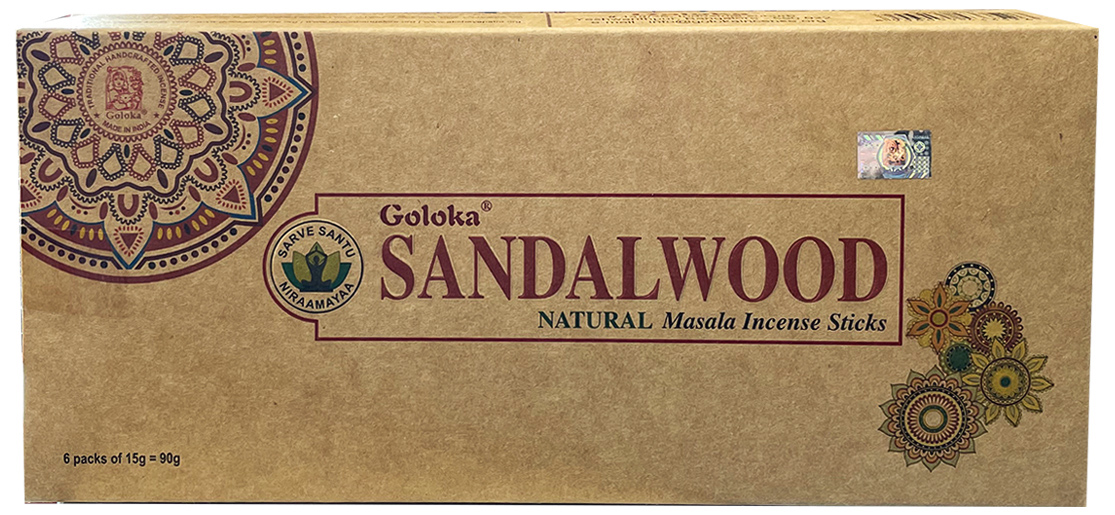 Encens goloka bois de santal oraganica massala 6x15g