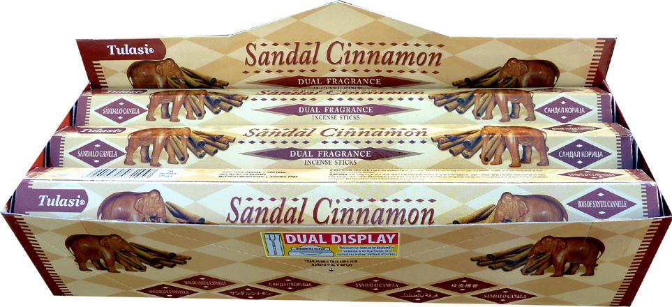 Incense tulasi sarathi sandal cinnamon hex 20g