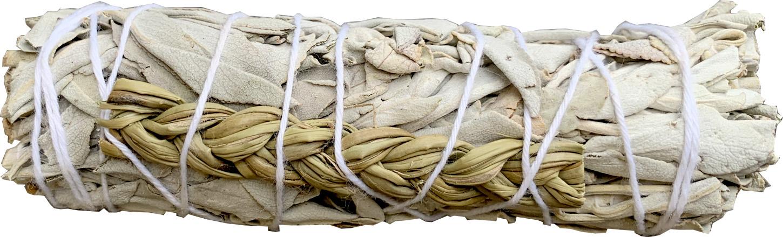 Natural white sage & Sweetgrass smudge 25-230g 10cm