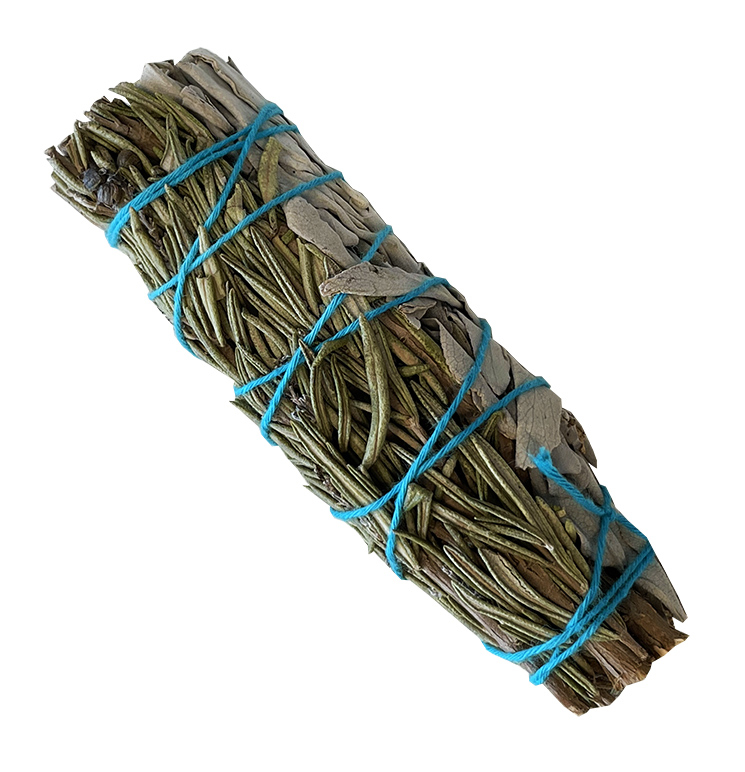 Natural white sage & Rosemary smudge 25-30g 10cm