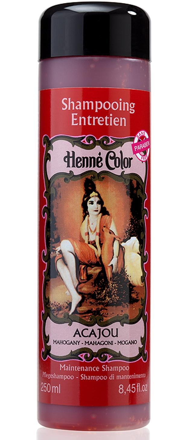 Shampooing entretien Henné Color acajou 250ml