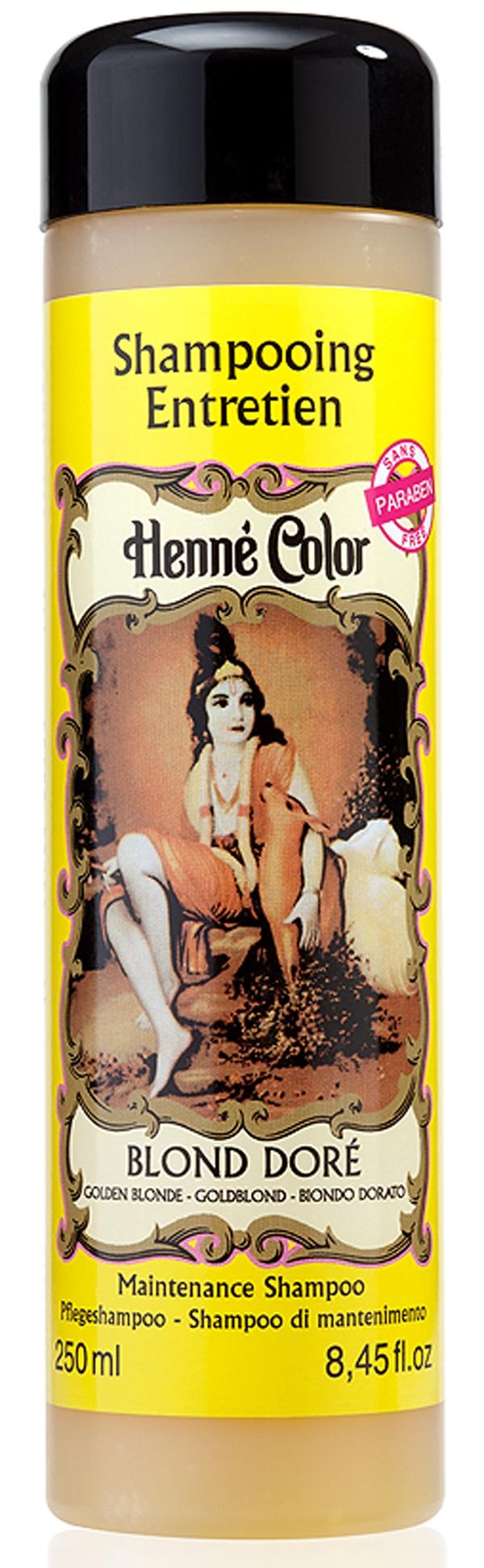 Shampooing entretien Henné Color blond doré 250ml