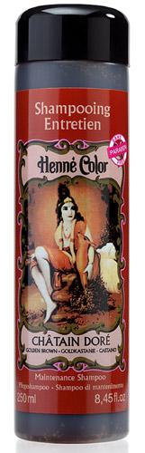 Shampooing entretien Henné Color châtain doré 250ml