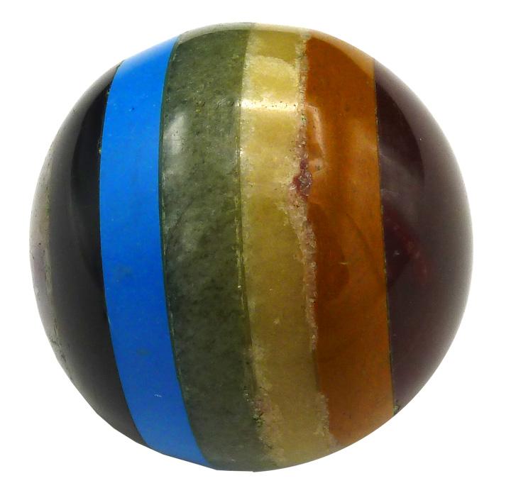 Sphère pierres 7 chakras 6cm