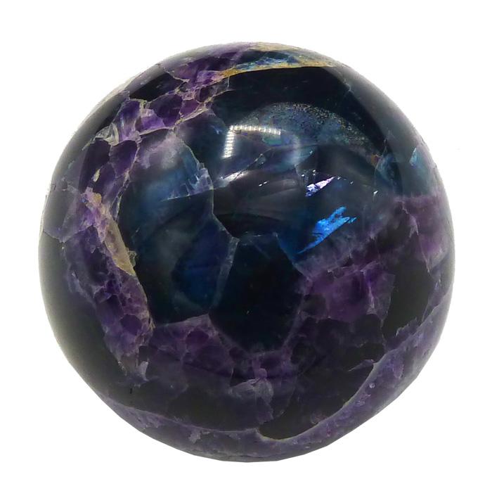 Sphère fluorite multicolore 6cm