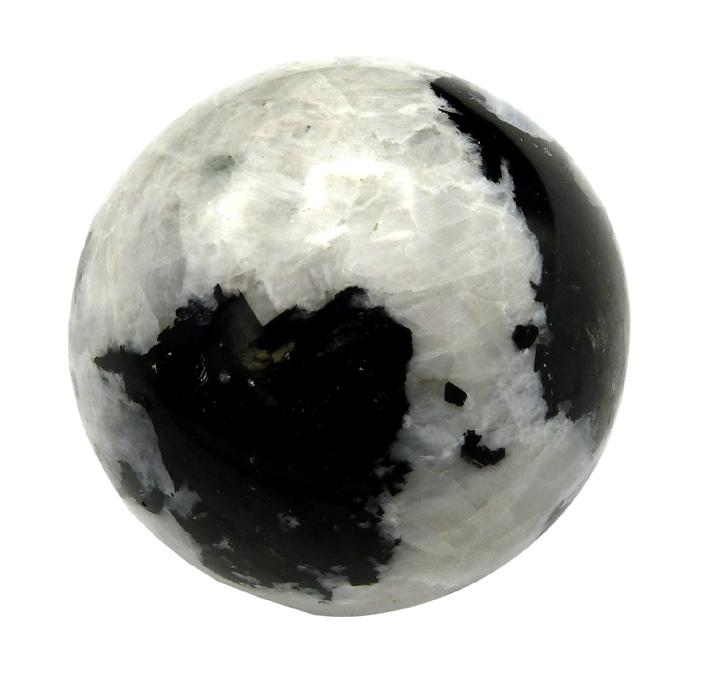 Sphère pierre de lune arc-en-ciel 6cm