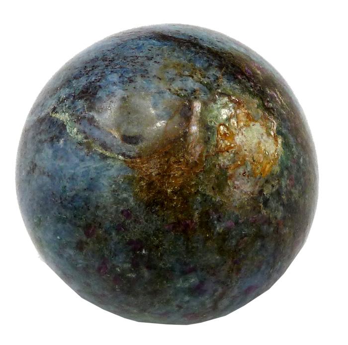 Sphère Rubis sur Zoïsite 6cm