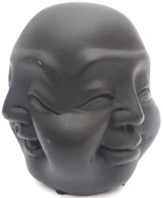 Bouddha 4 faces noir 10cm