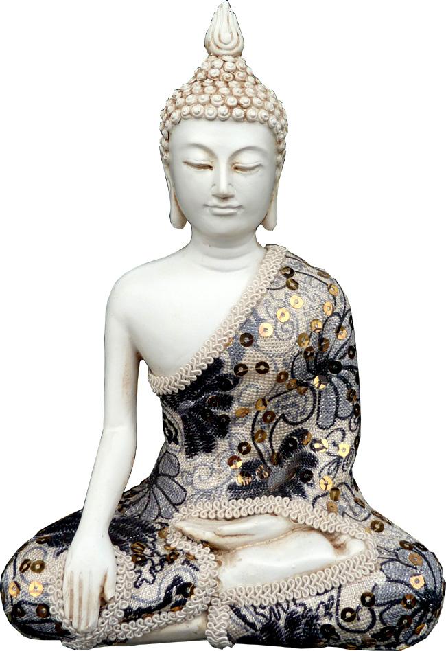 Bouddha salueur méditation 21cm