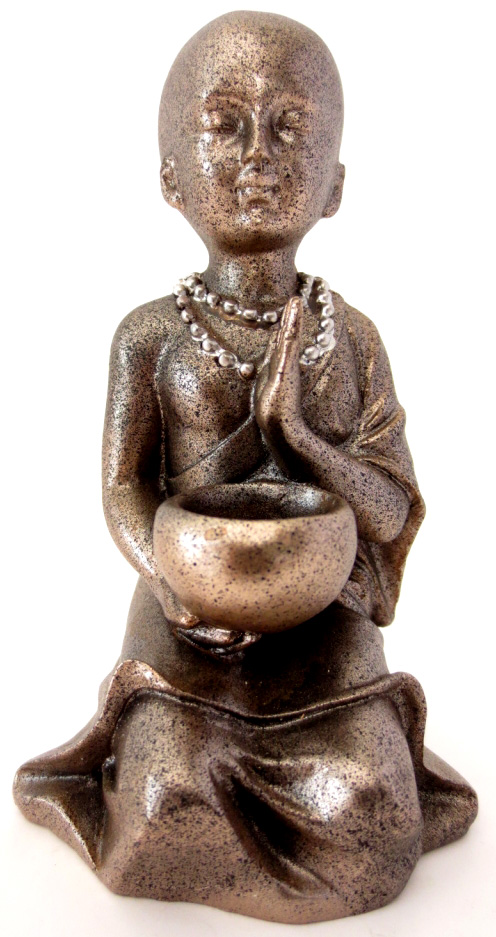 Moine shaolin meditation avec bol 11cm