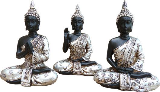 Set de 3 bouddhas thai 12cm