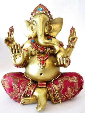 Ganesh rouge & or 20cm