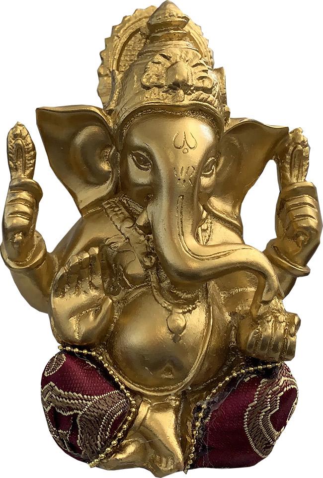 Ganesh or & noir 13cm