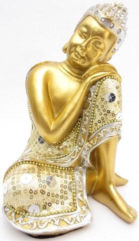 Bouddha penseur or 19cm