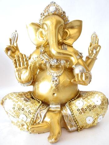 Ganesh or & blanc 20cm
