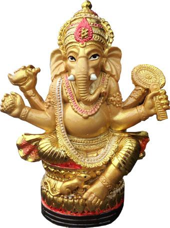 Statue résine ganesh dorée 13cm