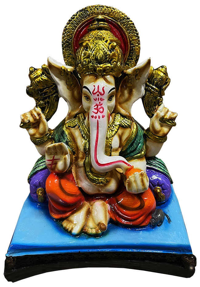 Ganesh en résine Bleu & Violet 19cm