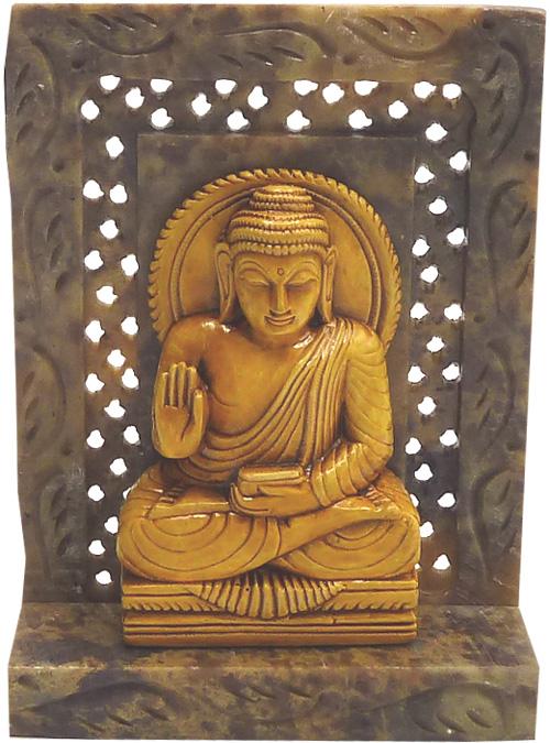Bouddha assis meditation en pierre 10cm