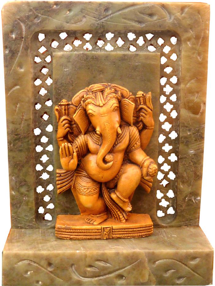 Autel laddu ganesh en pierre 10cm