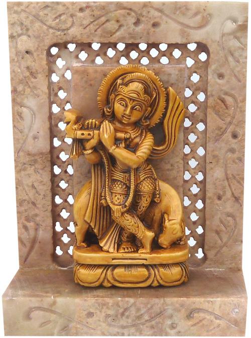 Krishna en pierre 10cm