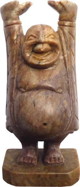 Happy bouddha en pierre 11cm