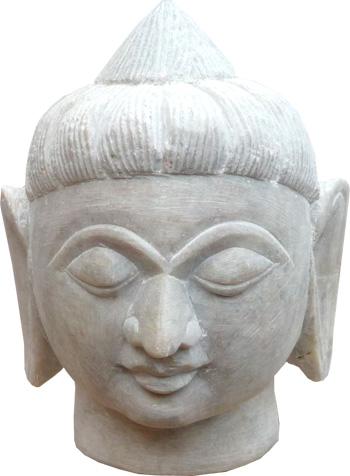 Tete de bouddha en pierre 8cm