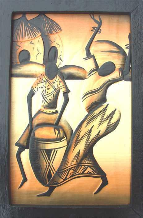 Tableau bois africain