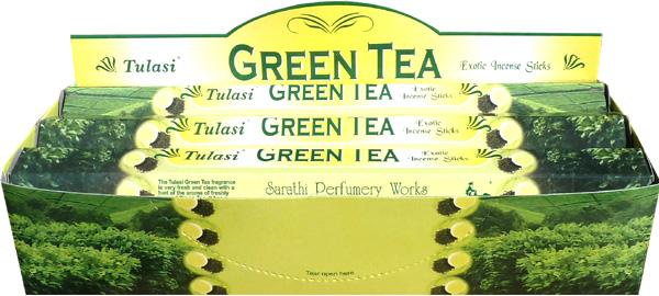 Incense tulasi sarathi green tea hex 20g