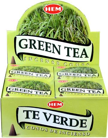 Encens hem thé vert cones