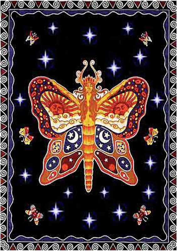 Tenture arabesk papillon couleur saumon