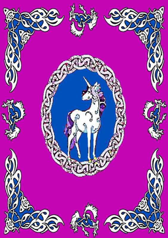 Tenture arabesk licorne rouge