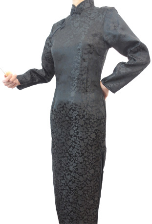 Robe chinoise noire dragon T40