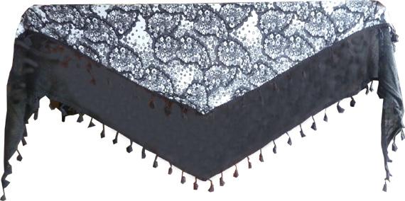 Triangle liberty acrylique et polyester noir